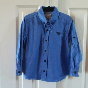Blue Offcorss Boys Button Down Shirt